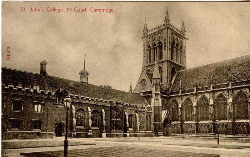 UK - England, Cambridge. St Johns College First Court