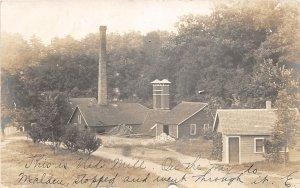 F55/ West Park New York RPPC Postcard 1907 Ned's Mill Malden