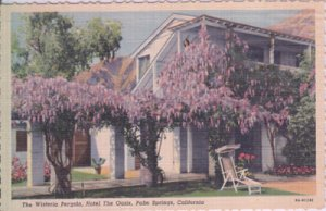 HOTEL THE OASIS - Exterior view of building showing Wisteria Pergola, 1930s