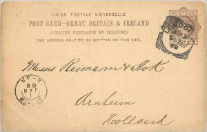 Entier Postal Stationery Postal Great Britain Great Britain 1889 London to Ar...