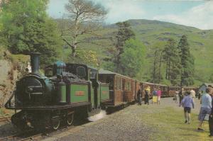 Festiniog Welsh Railway 1973 Walls Ice Cream Sign Seller Train Postcard