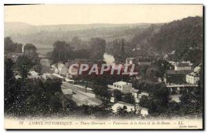 Postcard Old Thury Harcourt Panorama de la Gare and St. Benin