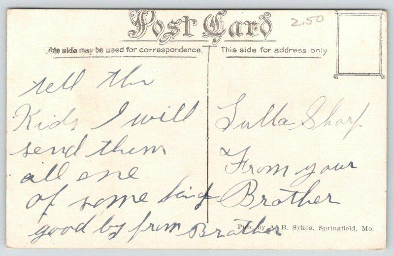 Rolla Missouri~Gymnasium~Triple Doorway~Houses Behind~c1910 Postcard