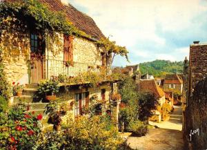France Domme Dordogne Maisons fleuries