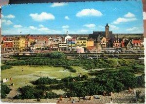 Belgium Bredene Panorama - posted 1965