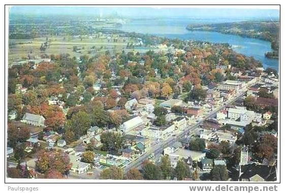 Air View of Picton, Ontario, ON , Canada, 1961 Chrome