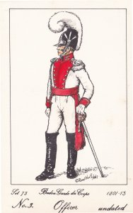Baden Guard Du Corps French Officer Soldier Napoleonic War Military Postcard