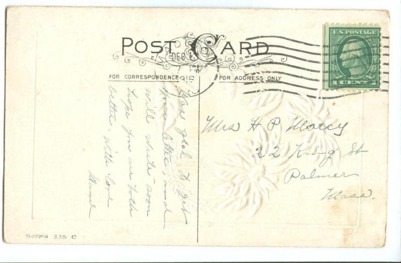 Christmas greetings 1916 used american greeting postcard hippostcard christmas greetings 1916 used american greeting postcard m4hsunfo