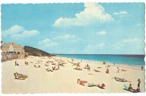 Bermuda, The Beach at Elbow Beach Surf Club in Paget Parish, 1964 Postcard