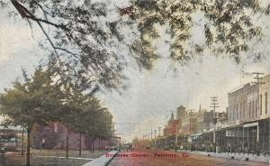 Fairbury Illinois~Business Center~Stores~City Bakery~Clothing~Drug~1911 Postcard