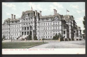 War and Navy Departments Washington DC Postcard BIN