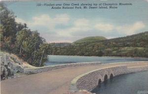 Maine Mt Desert Island Viaduct Over Otter Creek Acadia National Park Curteich