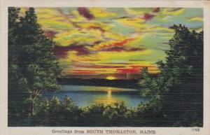 Maine Greetings From South Thomaston 1946