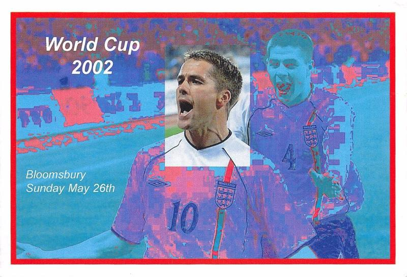 LIMITED EDITION Postcard Bloomsbury Postcard Fair 2002 World Cup #D2112