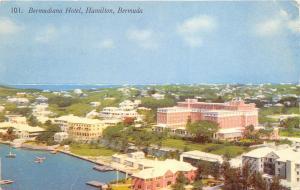 Hamilton Bermuda 1950-60s Postcard Bermudian Hotel