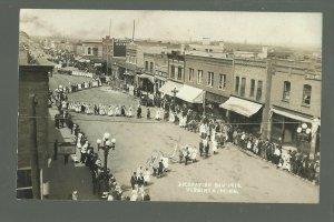 Virginia MINNESOTA RP 1912 DECORATION DAY Parade FLAGS nr Eveleth Gilbert Buhl