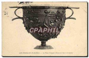 Old Postcard Excavations D Alesia The Vase of ARGNet Musee de Saint Germain
