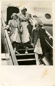 Dutch Royalty -  Travel to Canada, Juliana and Princesses Beatrix and Irene  ...