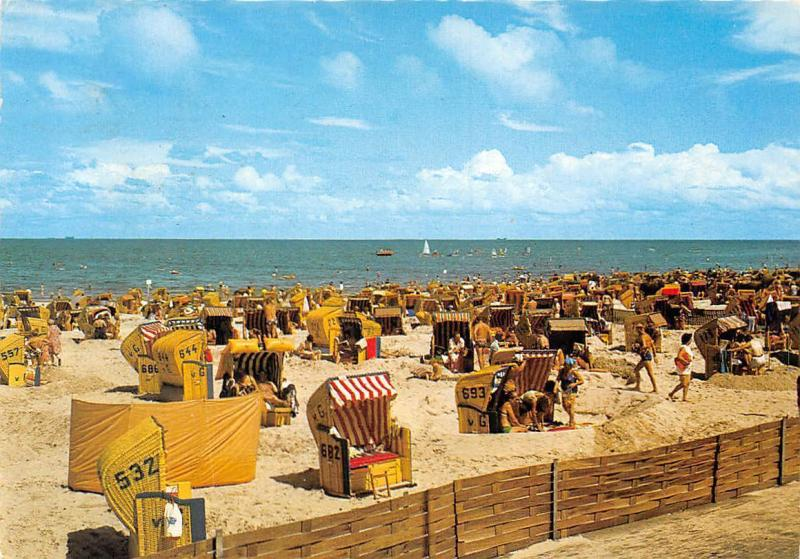 Nordseeheilbad Cuxhaven Doese Duhnen Am Strand Beach Promenade