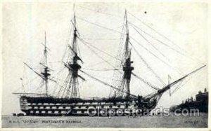 HMS Victory Portsmouth Harbor Sail Ship Unused close to perfect corners, Unused