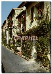 Old Postcard Antibes Cote D & # 39Azur Provence and Old flowery streets