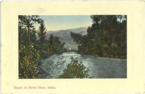 1914 D/B Scene on Boise River Idaho ID