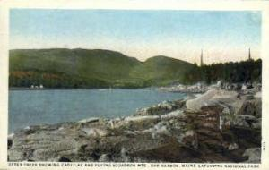 Cadillac & Flying Squadron Mts. Bar Harbor ME Postal used unknown