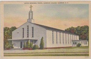 New York Sampson Royce Memorial Chapel Sampson College
