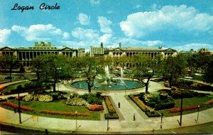 Pennsylvania Philadelphia Logan Circle and Swan memorial Fountain
