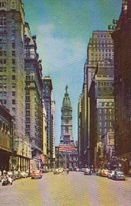 Pennsylvania Philadelphia Looking North On South Broad Street From Bellevue H...