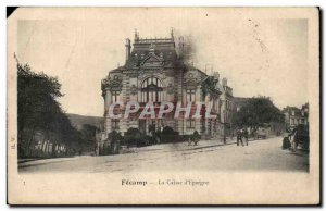 Fecamp - Caisse d & # 39Epargne - Old Postcard