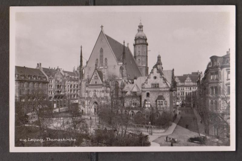 View Of Thomas Church In Leipzig - Real Photo - Writing But Not Posted