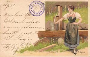 Artist Signed - Postcard Munoth Schaffhausen Alfred M. Mailick 02.11