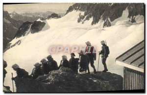 Old Postcard Militaria Alpine Hunters Depart d & # 39A high mountain patrol