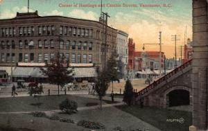Canada Corner of Hastings and Cambie Sterets Vancouver B. C. Postcard