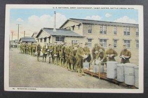 U.S. National Army Cantonment, Camp Custer, Battle Creek MI Postcard (F4)