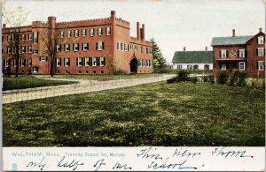 Waltham MA Training School For Nurses c1910 Waltham Cancel TUCK Postcard F34