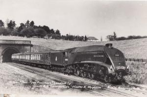 Tees Tyne Pullman Walter Wigham Class A Locomotive RPC Train Postcard