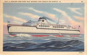The S.S. Princess Anne Ferry Boat between Cape Charles and Norfolk, VA