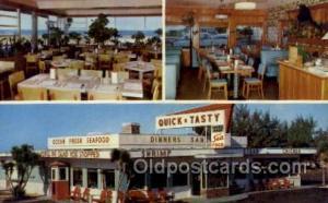 Ormond Beach, FL USA Quick n Tasty Coffee Shop Old Vintage Antique Postcard P...