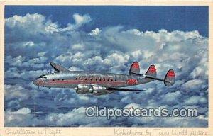 Constellation in Flight Kodachrome by Trans World Airline Unused