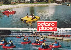Ride a Pedal Boat or a Bumper Boat at Ontario Place,  Toronto,  Ontario,  Can...