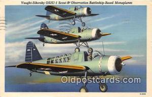 Postcard Post Card Vought Sikorsky OS2U Scout & Observation Battleship Based...