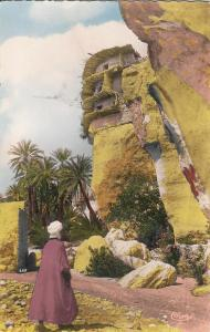 Algeria Baniane environs de Biskra rock house semi-modern photo postcard