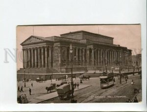3172991 UK LIVERPOOL StGeorges Hall tram Vintage photo postcard