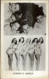 New York City Showgirls Conner's Models Bert Jonas Agent 1940s RPPC