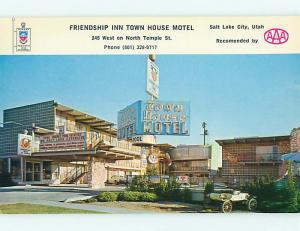 Unused Pre-1980 OLD CARS & TOWN HOUSE MOTEL Salt Lake City Utah UT u2660
