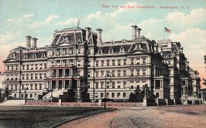 State, War, and Navy Department, Washington, D.C., Early Postcard, Used in 1910
