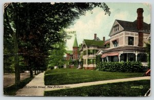 New Britain Connecticut~Curtiss Street~Beautiful Homes in Residential Area~1912