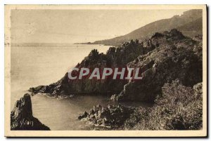 Postcard Old French Riviera Le Trayas Var Les Rochers